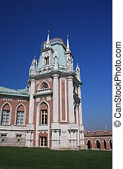 The tower of the palace Moscow Museum - reserve Tsaritsyno...