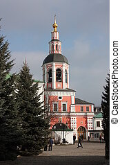 Moscow. Temple Gate - Moscow. Danilov monastery. Temple Gate