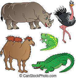 Wild animals collection 02 - vector illustration