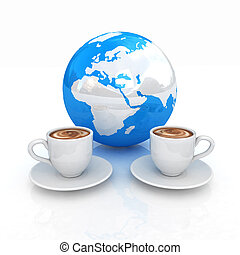 Coffee Global World concept