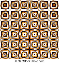 fresco tiles pattern - seamless texture of brown and white...