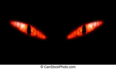 Animation of a evil looking fiery eyes