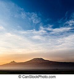 Kilimanjaro at Sunrise - Stunning view of the Kilimanjaro at...
