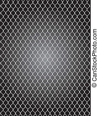 mesh wire for fencing vector illustration