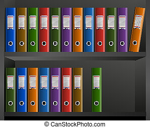 business files in the library