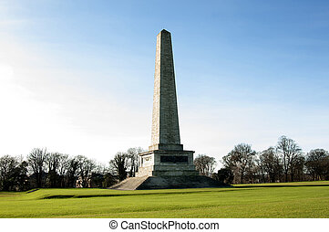 Wellington Monument in Phoenix Park, Dublin - Ireland - The...
