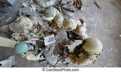 Tactics - The above view of a tactic military group...