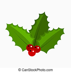 Holly berry - Christmas symbol. Vector illustration