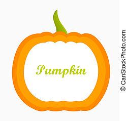 Pumpkin label. Vector illustration