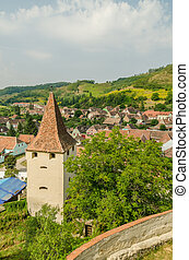 Medieval Town Aerial View - Medieval Mountain Town In...