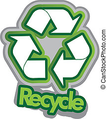 Recycling - Vector illustration of the recycle sign