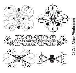 Vector Ornament Set 8