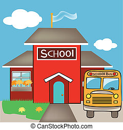 school with a bus - its a EPS file
