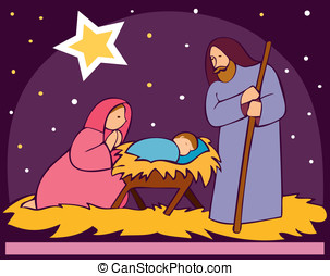 Baby Jesus in a manger 2 - its a EPS file