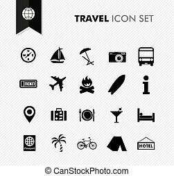 Travel fresh icon set. - Modern travel vacations and...