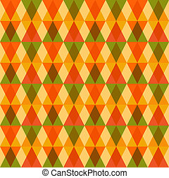 Unusual Autumn geometric seamless pattern background. EPS10...