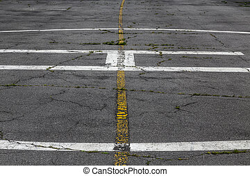 road marking on an airstrip.
