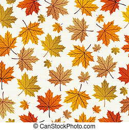 Vintage autumn leaves seamless pattern background EPS10 file...