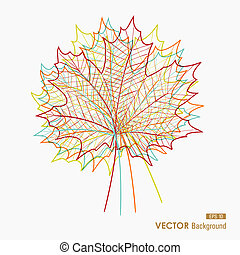 Fall season colorful leaves silhouettes. Abstract autumn composition. EPS10 vector file with transparency for easy editing