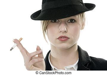 A beautiful Woman - Smoking