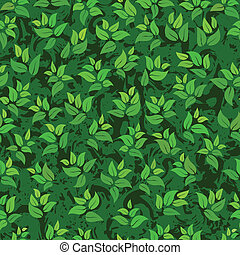 seamless abstract green leaves background