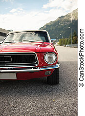 Classic Muscle Car - American muscle car convertible on the...