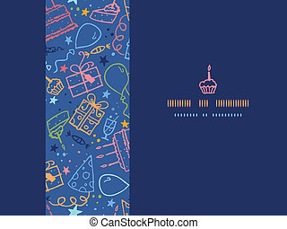 Birthday horizontal seamless pattern background