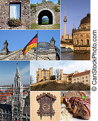 Landmark collage of Germany