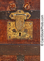 Weathered Treasure Chest - An old, mysterious trunk