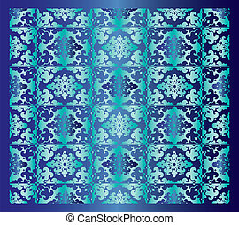 abstract geometric design (blue)