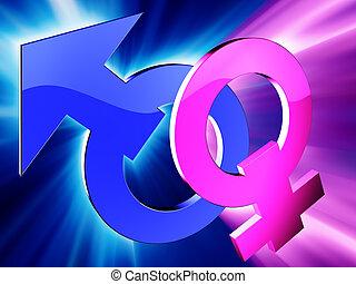 Gender symbols - Male and female gender symbols
