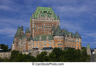 Chateau Frontenac in Quebec City, Canada, summer view
