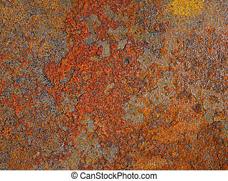 oxidized, rusted metal - Abstract texture oxidized, rusted...