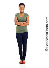 young afro american woman - happy young afro american woman...