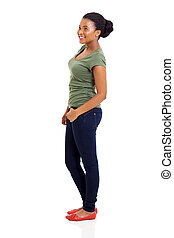 side view of african american woman - side view of beautiful...