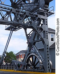 Mystic River Bascule Bridge in Mystic, Connecticut