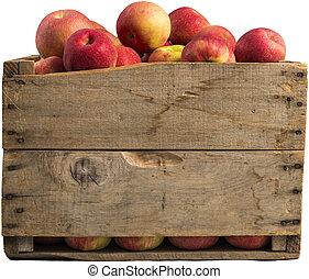 cajón, Lleno, manzanas