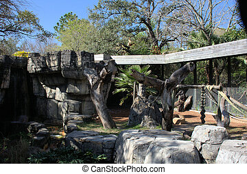 Zoo Enclosure - Zoo enclosure for wildlife, mostly primates...