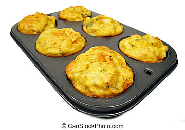 Freshly Baked Vegetable Muffins - Freshly baked vegetable...