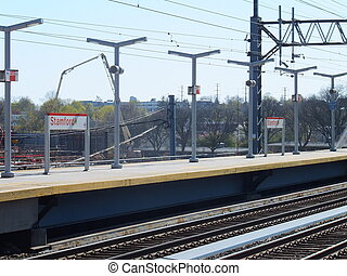 Stamford Train Station in Connecticut