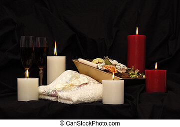 Candlelit Massage - Candles, pot pourri, towel and two...