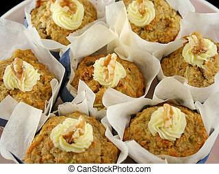 Fruit Muffins With Walnuts 6 - Homestyle fresh baked fruit...