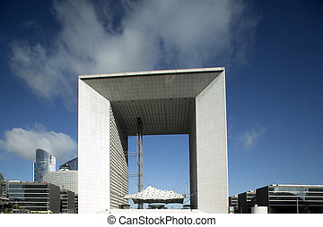 la grand arch, la defence - the grand arc in la defence...