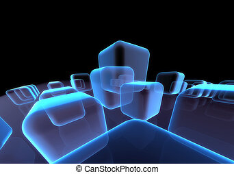 Abstract transparent block background
