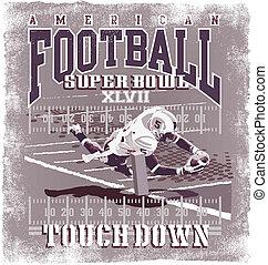 Touchdown American Football - football sport vector for...