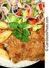 Hearty Chicken Schnitzel 2 - Hearty homemade chicken...