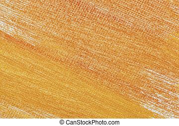 orange abstract on artist canvas