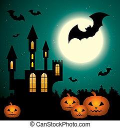 Halloween Scenery.  EPS10, gradient