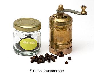 Pepper and grinder