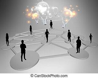 Idée génie,  Business, équipe